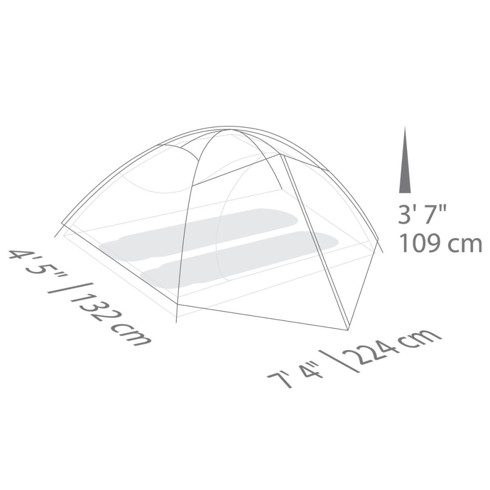EUREKA Apex 2XT 2 Person Tent - BARK/BLUE/FOLIAGE