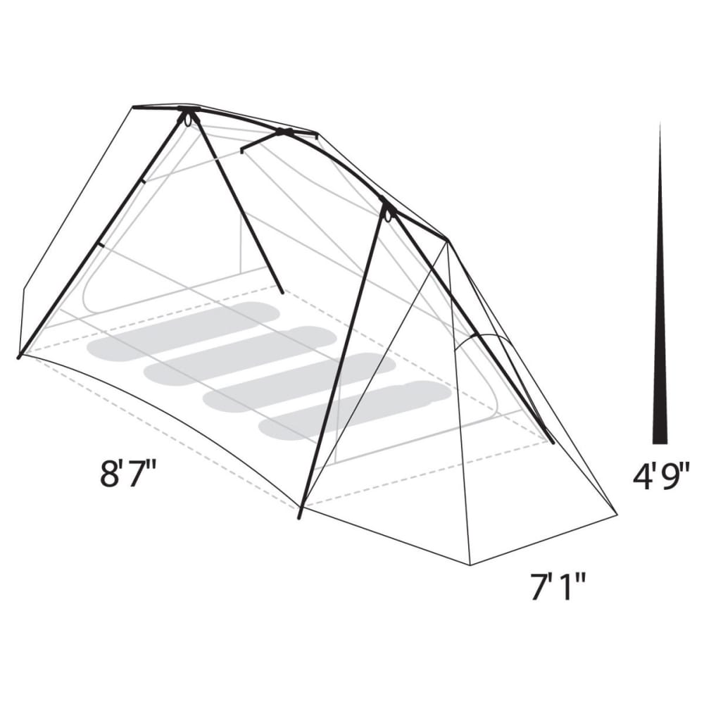 EUREKA Timberline® SQ 4xt 4 Person Tent - GREEN/WHITE/BROWN