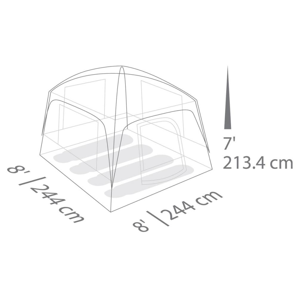 EUREKA Jade Canyon 4 person tent - LIME/GREY