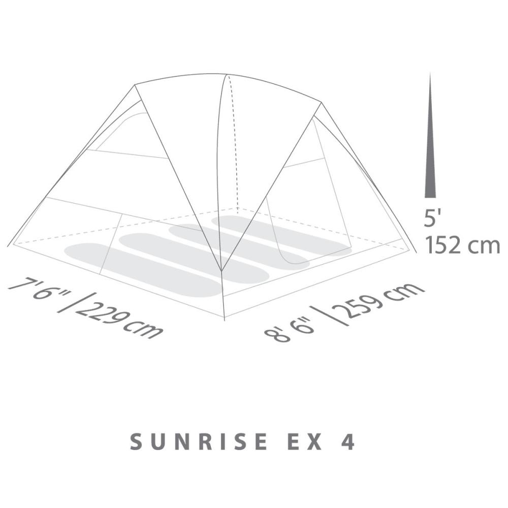 EUREKA Sunrise EX 4 Person Tent - CEMENT/JAVA