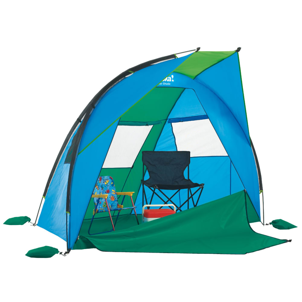 EUREKA Solar Shade Medium Cabana - BLUE/LIME/BLARNEY