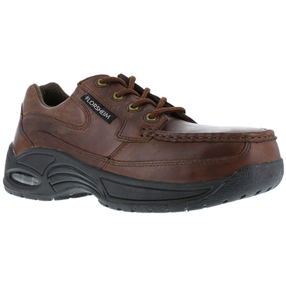 FLORSHEIM WORK Women's Polaris Composite Toe SR Supreme Canoe Moc Toe Eurocasual Shoe, Copper - BROWN