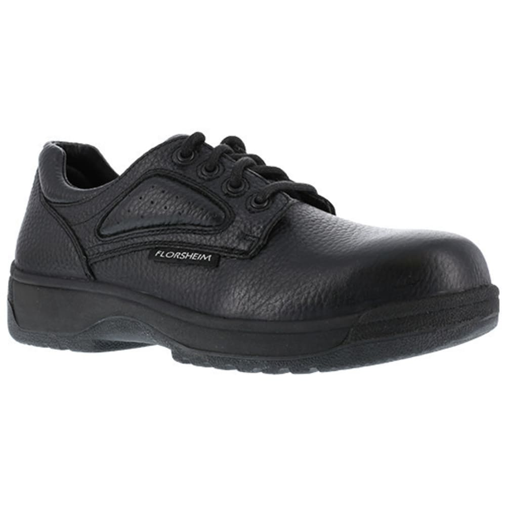 FLORSHEIM WORK Women's Work Fiesta Composite Toe Eurocasual Oxford Shoes, Black 10