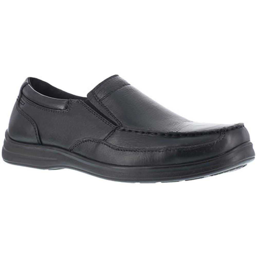 FLORSHEIM WORK Women's Wily Steel Toe Moc Toe Slip On Shoes, Black - BLACK