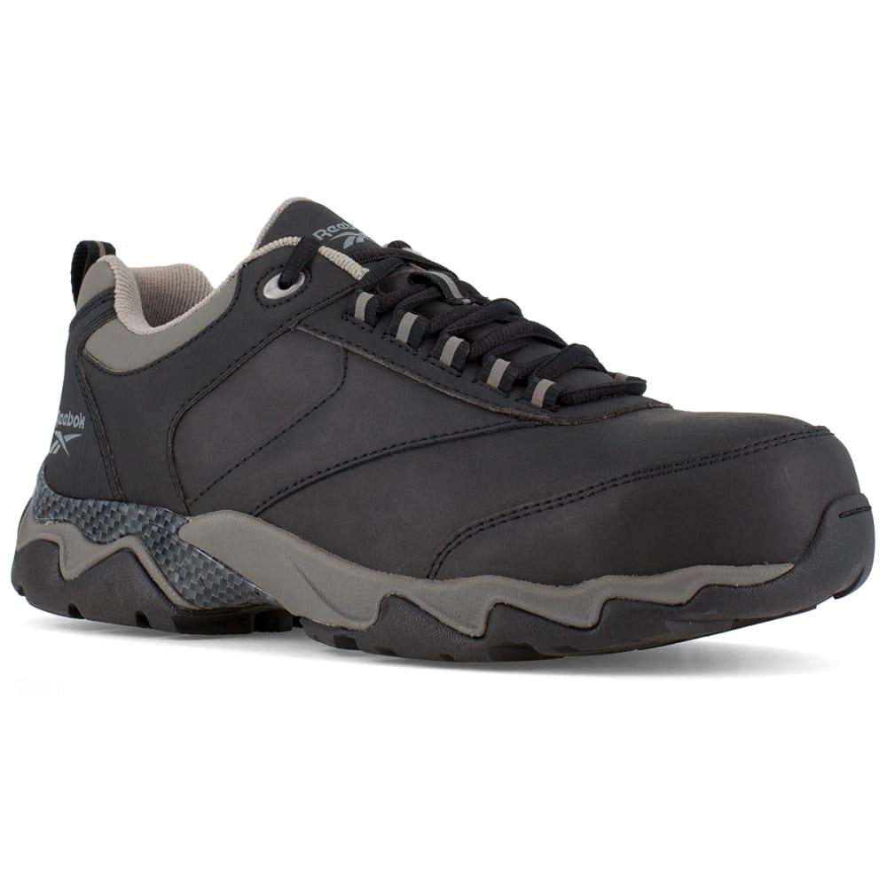 REEBOK WORK Men's Beamer Composite Toe Athletic Oxford Sneaker, Black/Grey 7