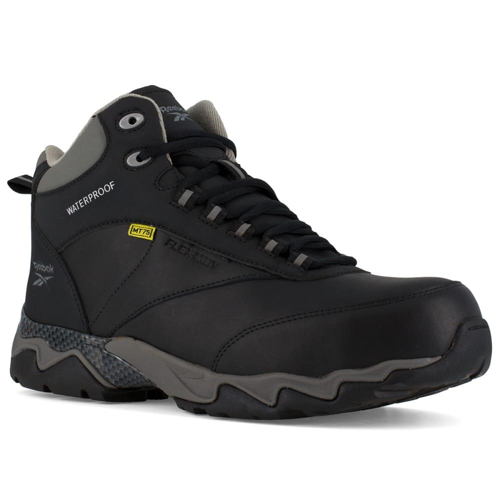 REEBOK WORK Men's Beamer Composite Toe Internal Met Guard Waterproof Athletic Hiker, Black/Grey 6.5