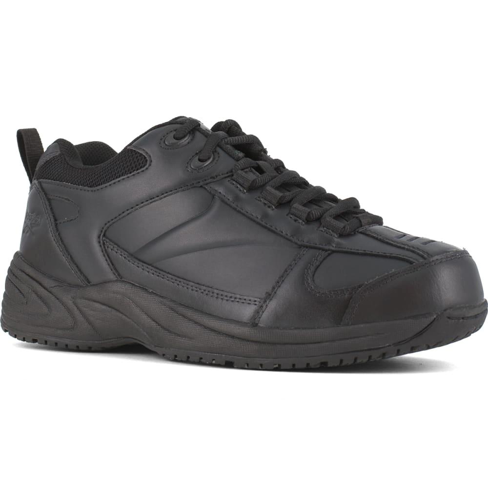 REEBOK WORK Men's Jorie Soft Toe Street Sport Jogger Oxford Sneaker, Black 6