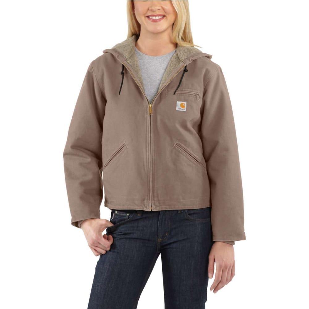 CARHARTT Women's Sandstone Sierra Sherpa-Lined Jacket - TAUPE GRAY-032