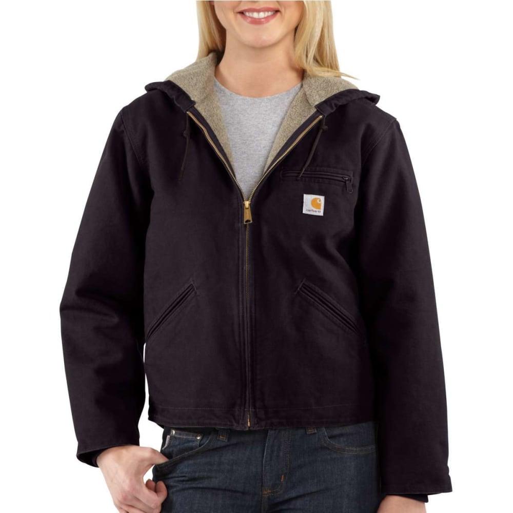 CARHARTT Women's Sandstone Sierra Sherpa-Lined Jacket - DEEP WINE-DWN