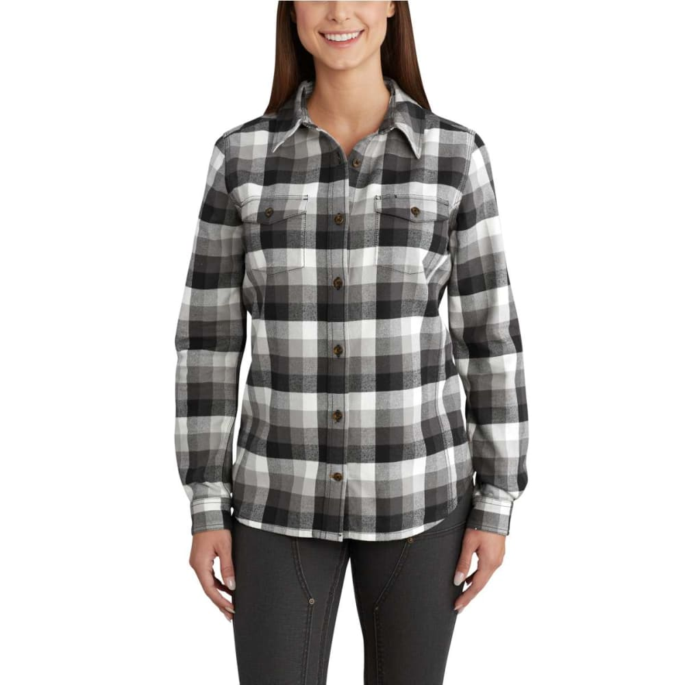 CARHARTT Women's Rugged Flex Hamilton Long Sleeve Shirt - BLACK-001