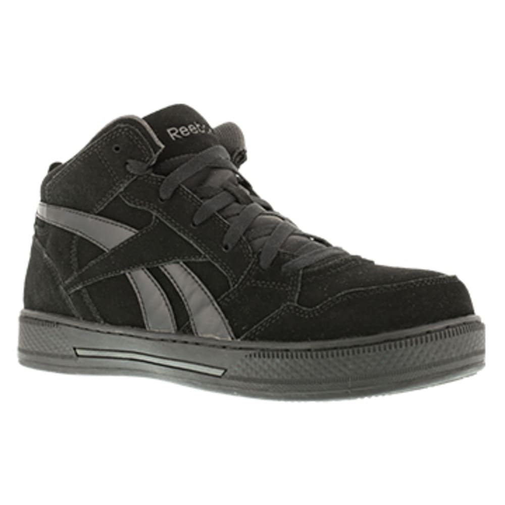 REEBOK WORK Men's Dayod Composite Toe Lightweight Hi Top Skateboard Sneaker, Black - BLACK