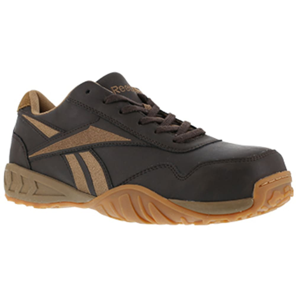 REEBOK WORK Men's Bema Composite Toe Low Profile Euro Casual Athletic Oxford Sneaker - BROWN