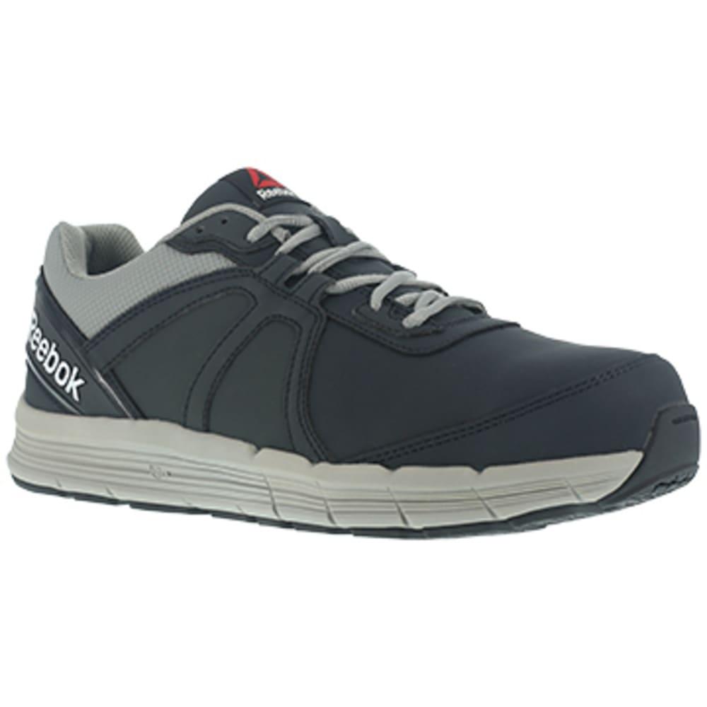 REEBOK WORK Men's Guide Work Steel Toe Performance Cross Trainer Sneaker, Navy/Grey 7