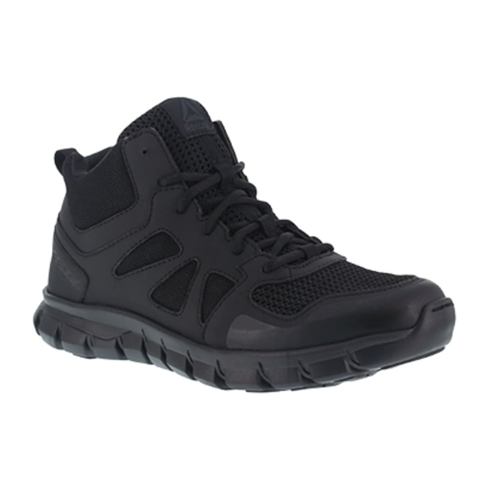 REEBOK WORK Men's Sublite Cushion Tactical Soft Toe Mid Tactical Shoe - BLACK