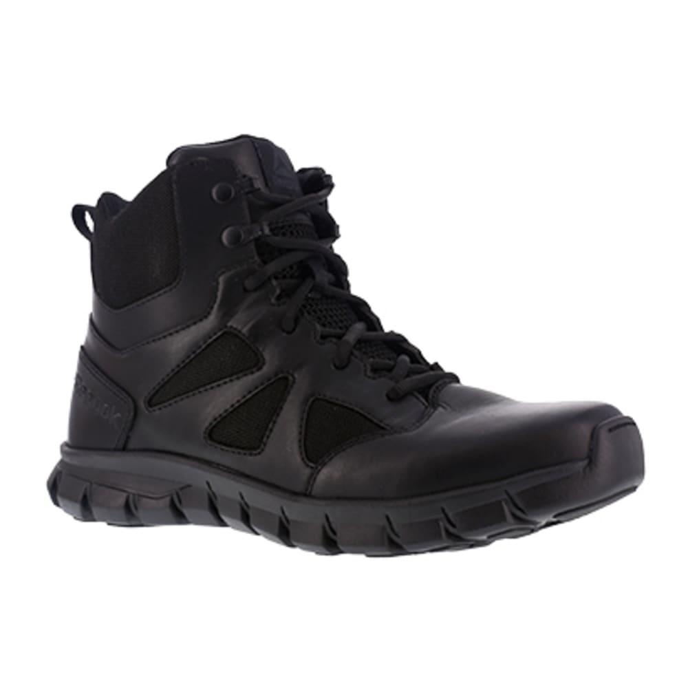 "REEBOK WORK Men's Sublite Cushion Tactical Soft Toe 6"" W/ Side Zip Tactical Boot, Black - BLACK"