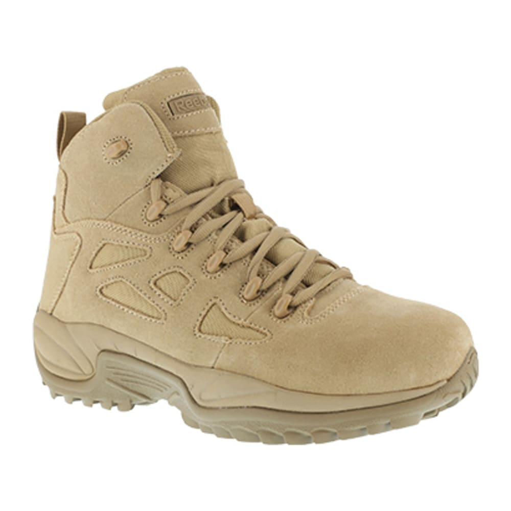 "REEBOK WORK Men's Rapid Response RB Composite Toe Stealth 6"" W/ Side Zip Boot, Desert Tan - DESERT TAN"