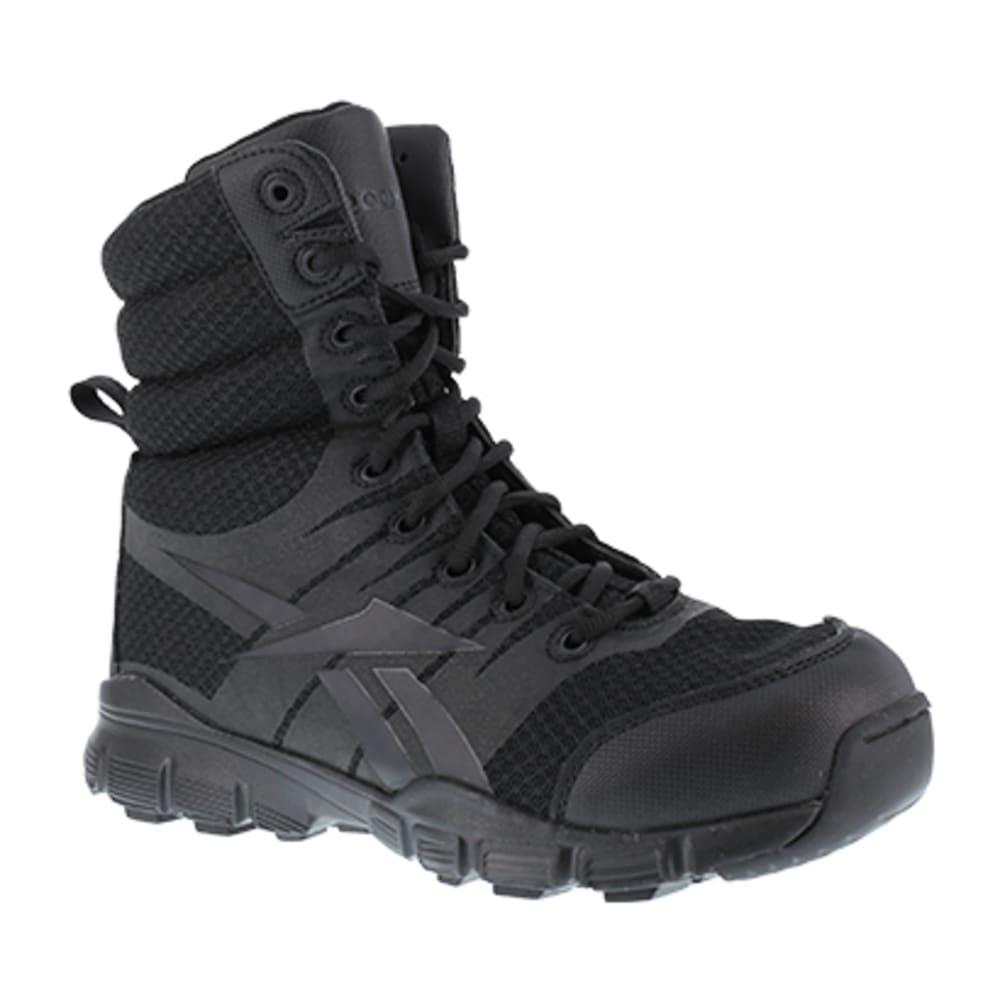 "REEBOK WORK Men's Dauntless Ultra-Light Soft Toe Seamless 8"" W/ Side Zip Tactical Boot, Black - BLACK"