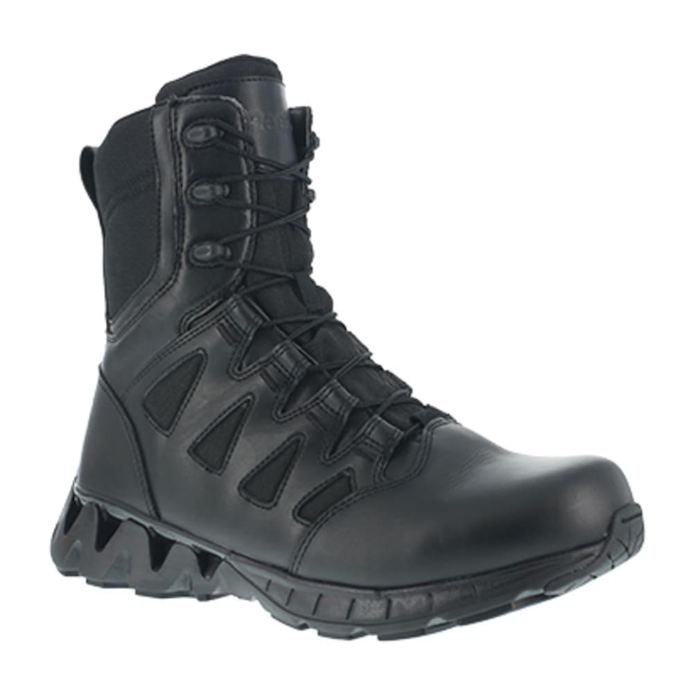 """REEBOK WORK Men's ZigKick Tactical Soft Toe 8"""" W/ Side Zip Tactical Boot, Black - BLACK"""