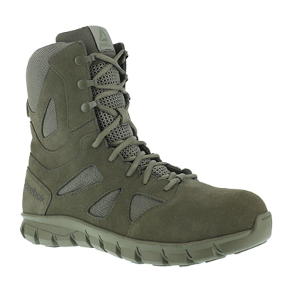 "REEBOK WORK Men's Sublite Cushion Tactical Composite Toe 8"" W/ Side Zipper Tactical Boot, Sage Green - SAGE GREEN"