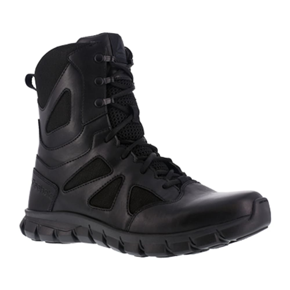 "REEBOK WORK Women's Sublite Cushion Tactical Soft Toe 8"" Waterproof Tactical Boot, Black 10.5"