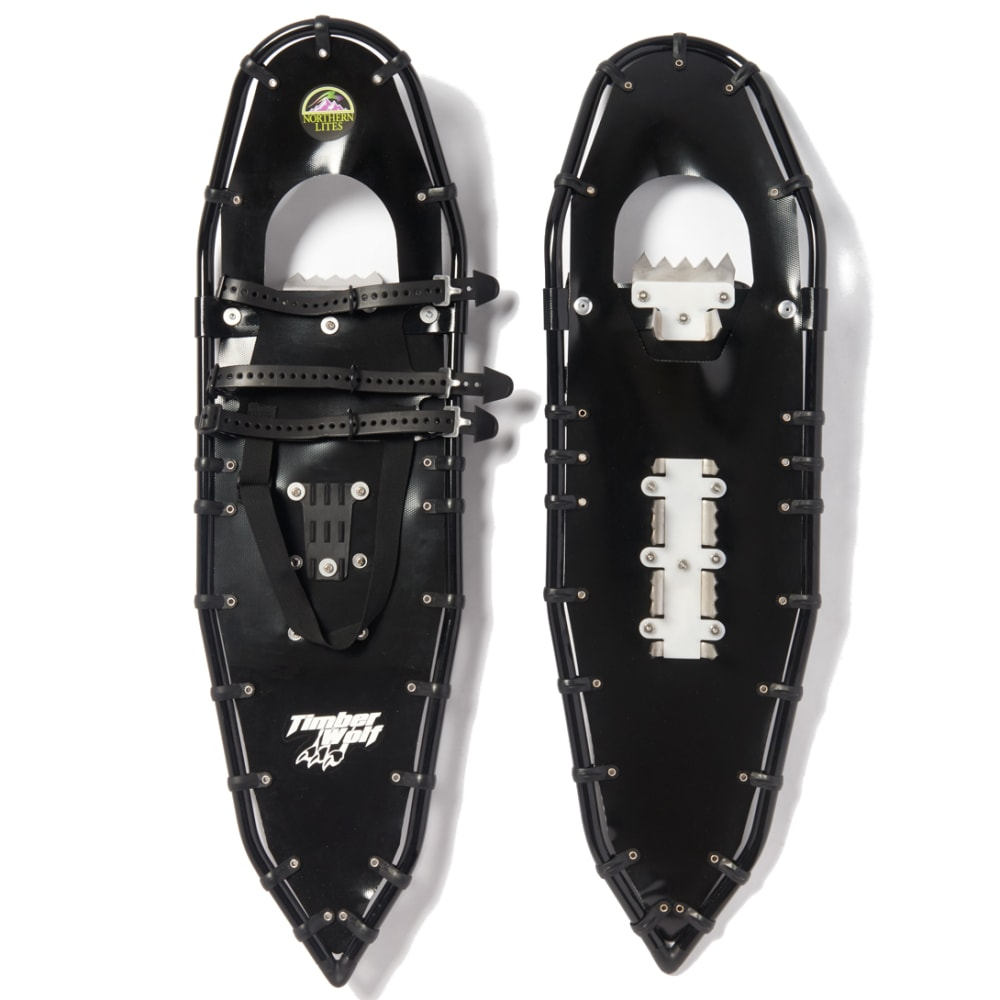 NORTHERN LITES Timber Wolf Snowshoes - BLACK/BLACK