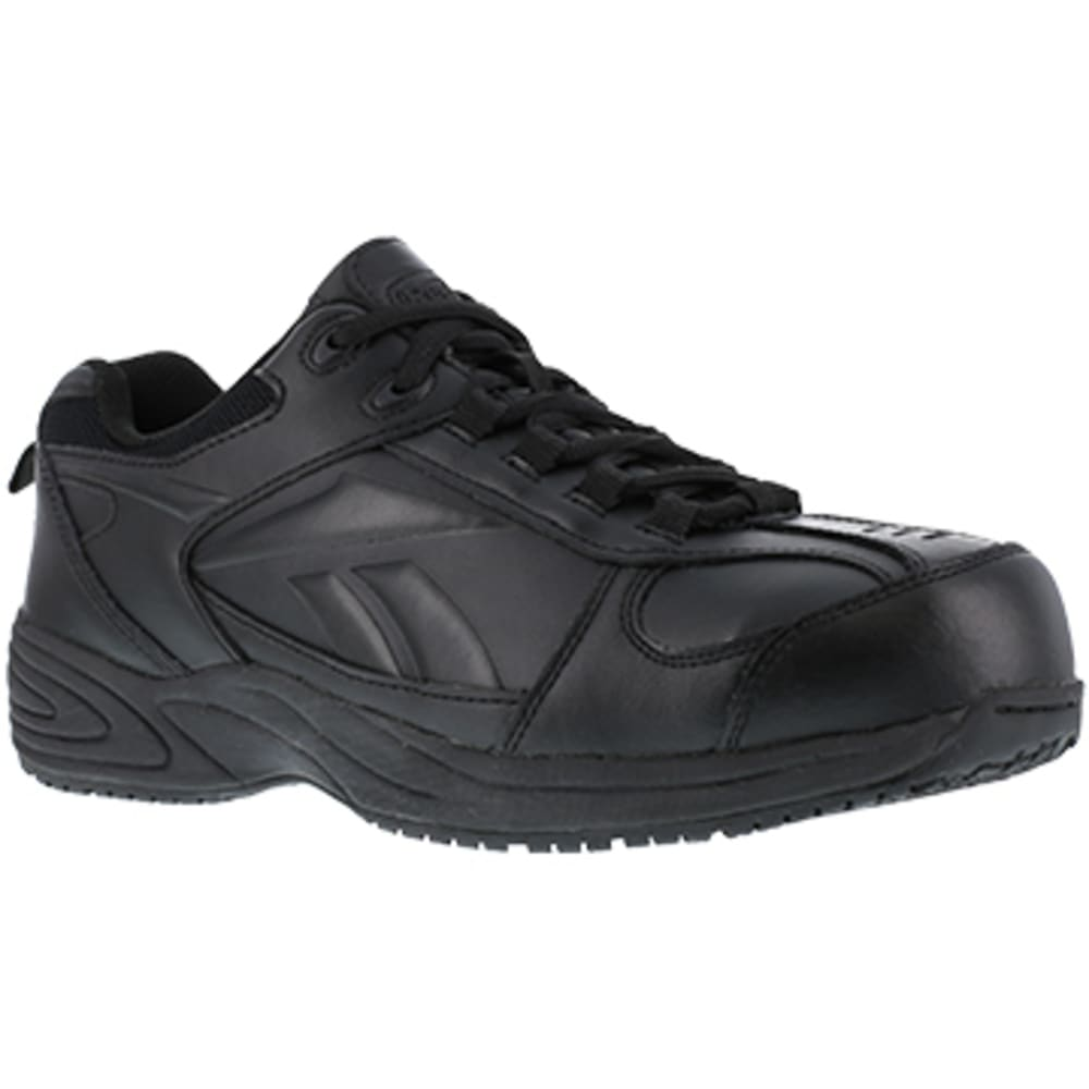 REEBOK WORK Women's Jorie Composite Toe Street Sport Jogger Oxford Sneakers, Black - BLACK