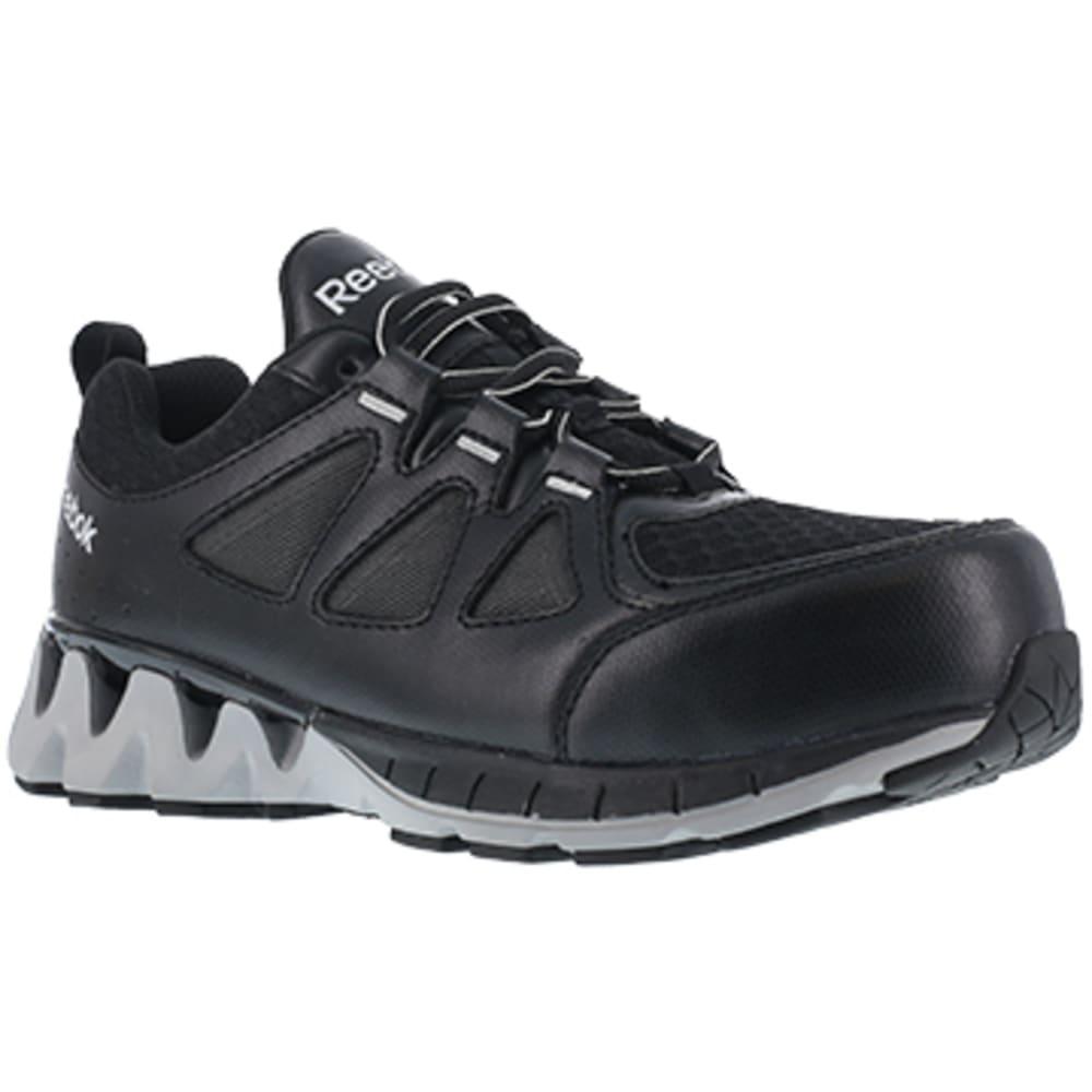 REEBOK WORK Women's ZigKick Work Composite Toe Athletic Oxford Sneakers, Black/Grey - BLACK