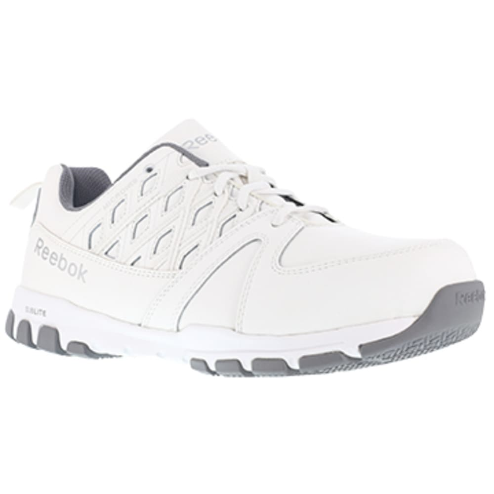 REEBOK WORK Women's Sublite Work Steel Toe Athletic Oxford Sneakers, White 6