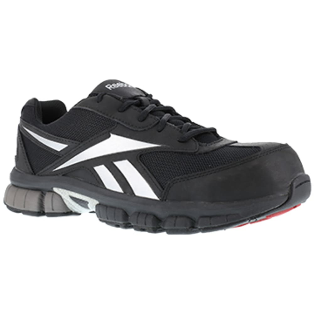 REEBOK WORK Women's Ketia Composite Toe Performance Cross Trainer, Black/Silver - BLACK