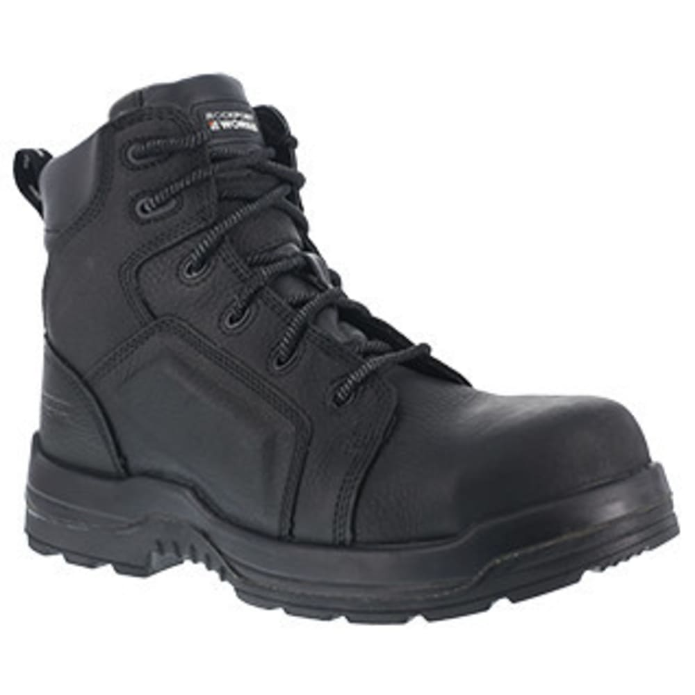 ROCKPORT Women's 6 in. More Energy Composite Toe Waterproof Work Boots - BLACK