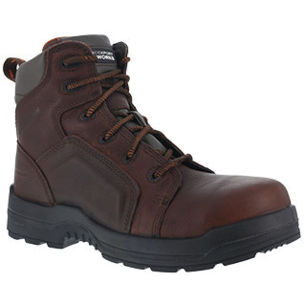 ROCKPORT Women's 6 in. More Energy Composite Toe Waterproof Work Boots - BROWN