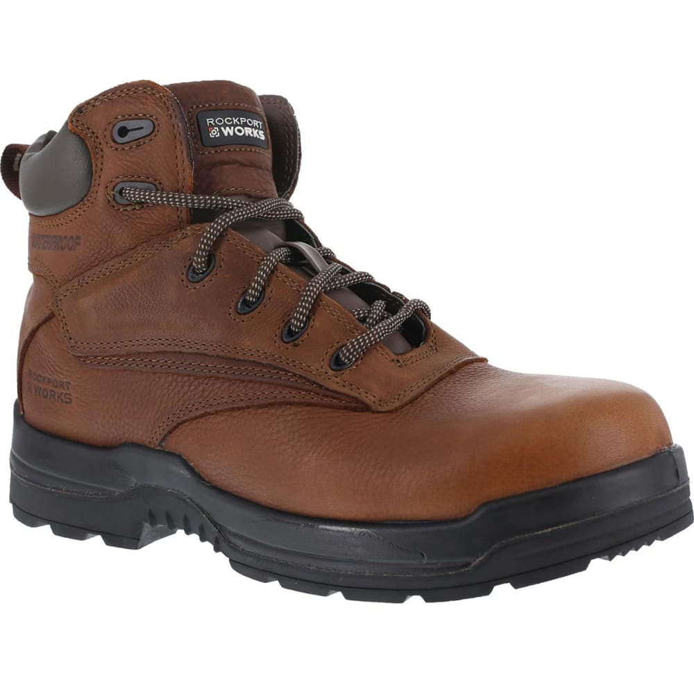 ROCKPORT Women's 6 in. More Energy Composite Toe Waterproof Work Boots - DEER TAN
