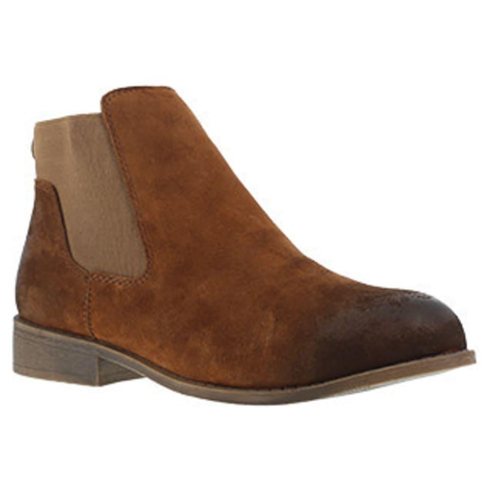 ROCKPORT WORKS Women's Junction View Twin Gore Slip On Steel Toe Boot, Brown 8.5