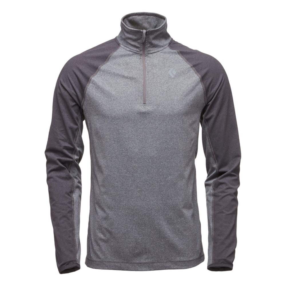 BLACK DIAMOND Men's Approach Quarter Zip Fleece - SMOKE