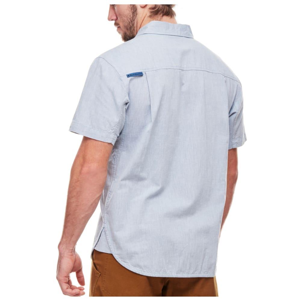 BLACK DIAMOND Men's Short-Sleeve Chambray Modernist Shirt - BLUE STEEL