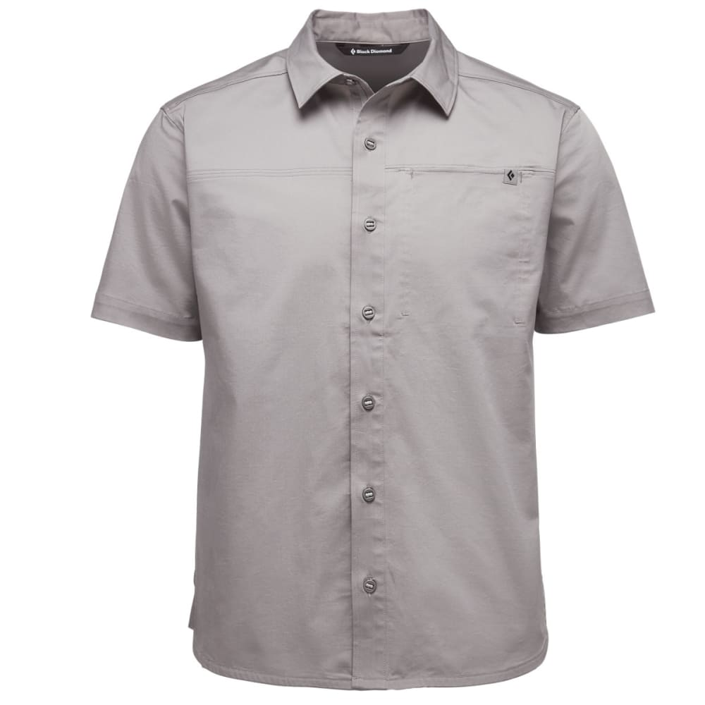 BLACK DIAMOND Men's Short-Sleeve Stretch Operator Shirt - NICKEL