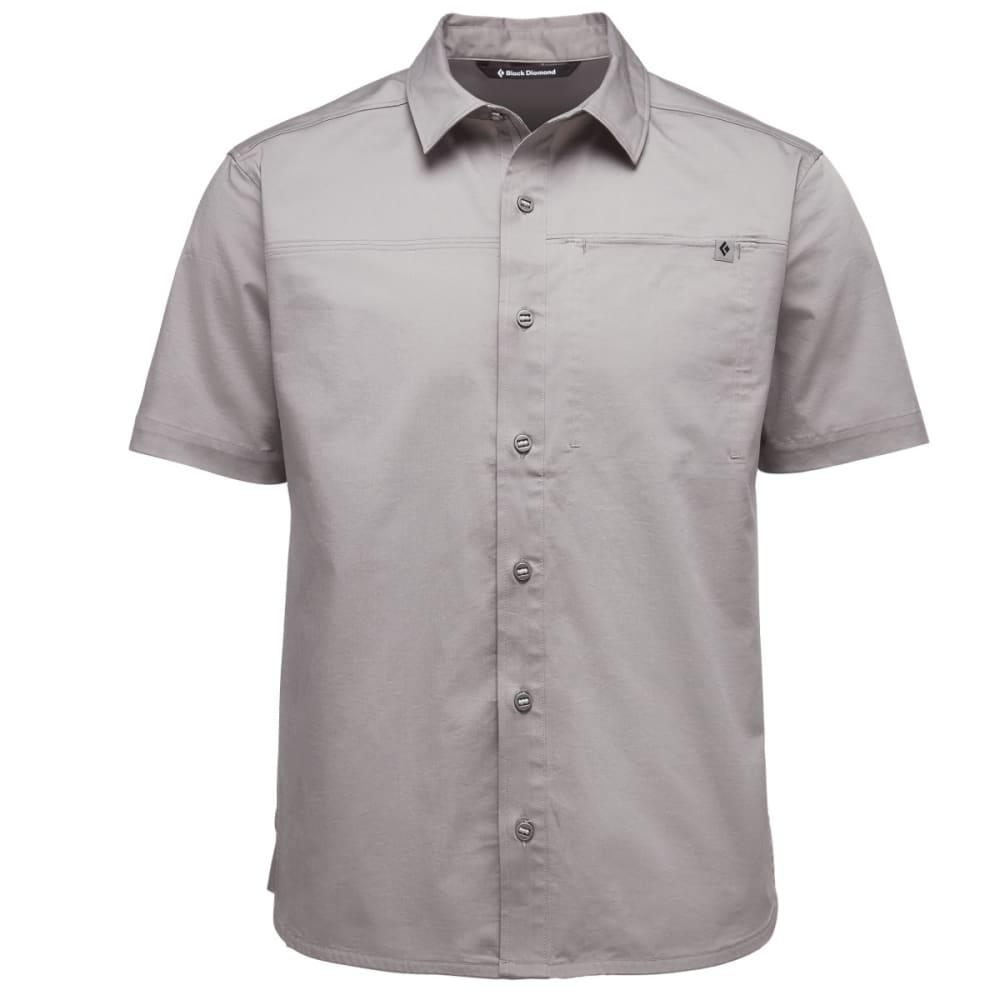 BLACK DIAMOND Men's Short-Sleeve Stretch Operator Shirt - NICKEL