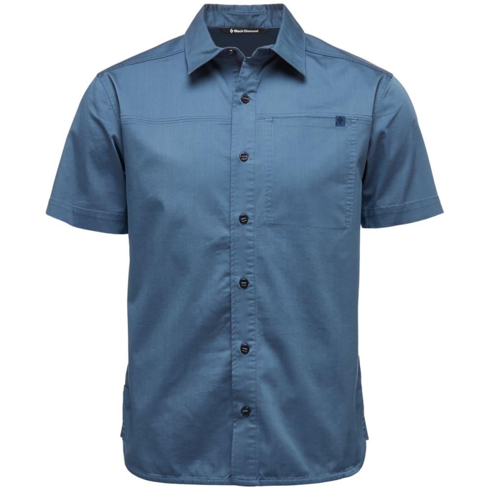 BLACK DIAMOND Men's Short-Sleeve Stretch Operator Shirt - INK BLUE