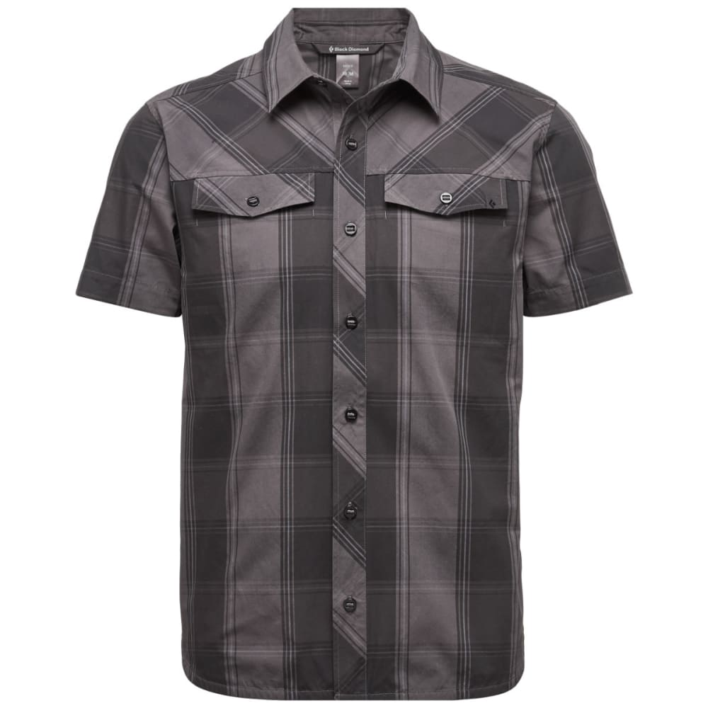 BLACK DIAMOND Men's Short-Sleeve Technician Shirt - SLATE-SMK PLAID