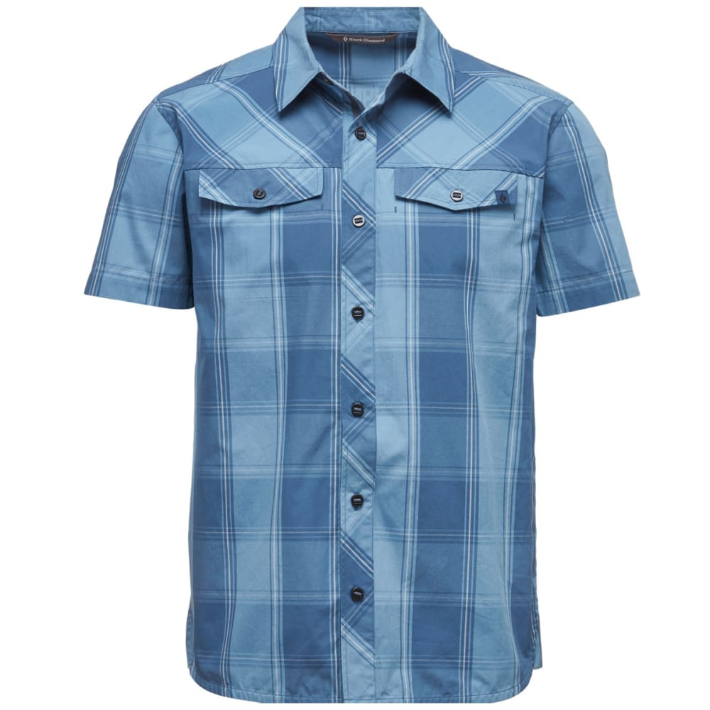 BLACK DIAMOND Men's Short-Sleeve Technician Shirt - INK BLUE-DENIM