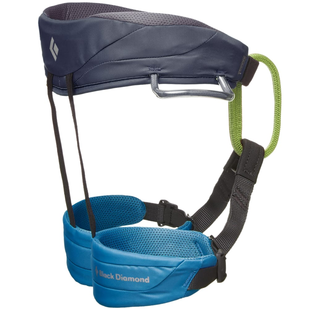 BLACK DIAMOND Kids' Momentum Climbing Harness - KINGFISHER