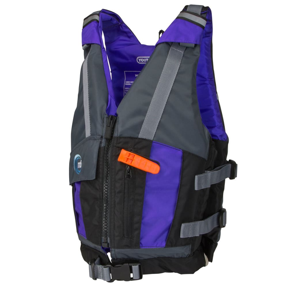 MTI Youth Reflex Life Jacket - BLACK/GRAPE