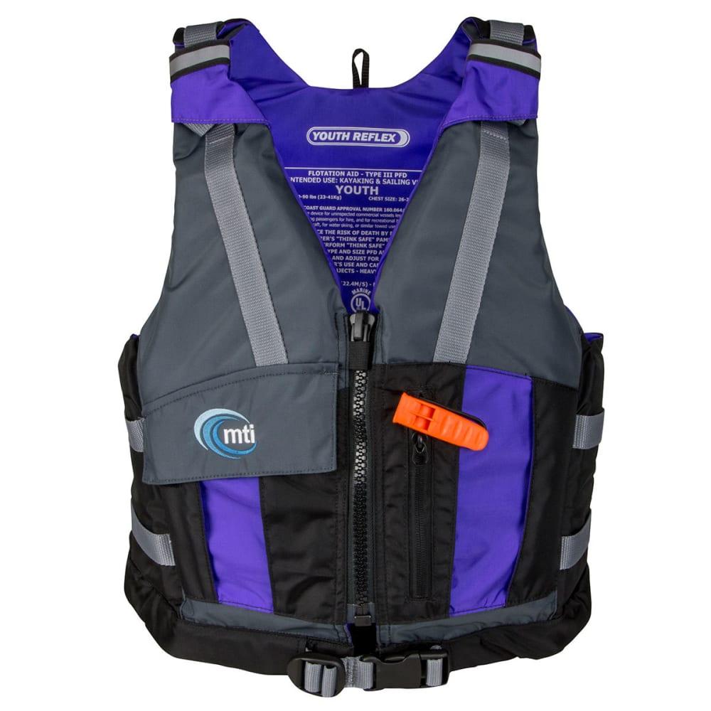 MTI Youth Reflex Life Jacket - BLACK/GRAPE