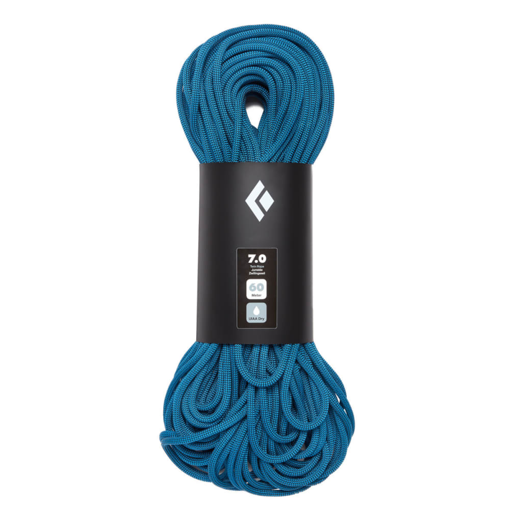 BLACK DIAMOND 7.0 Dry 60m Climbing Rope - AQUA
