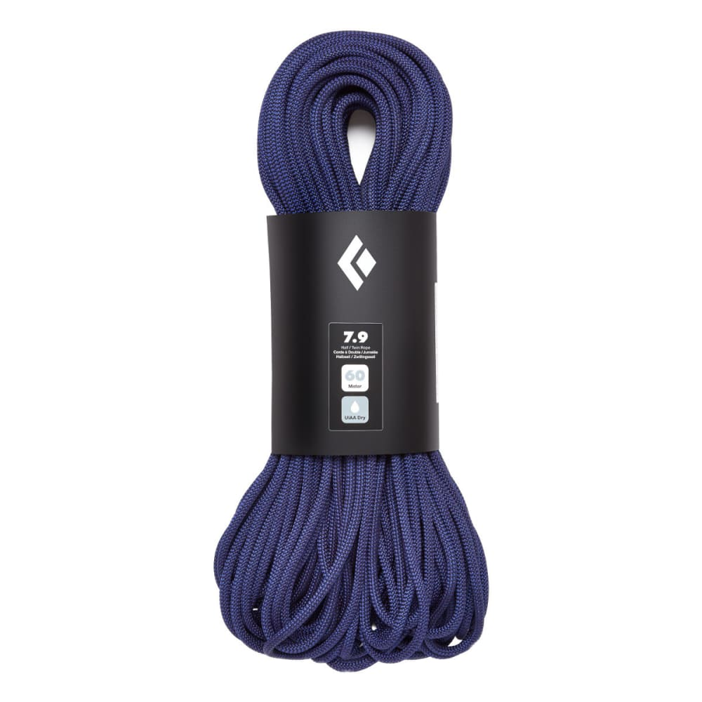 BLACK DIAMOND 7.9 Dry 60m Climbing Rope - PURPLE