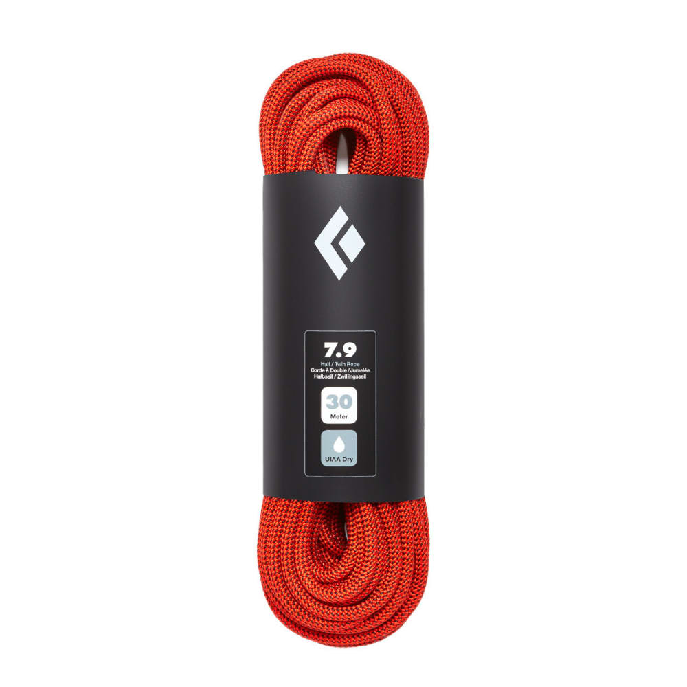 BLACK DIAMOND 7.9 Dry 60m Climbing Rope - ORANGE