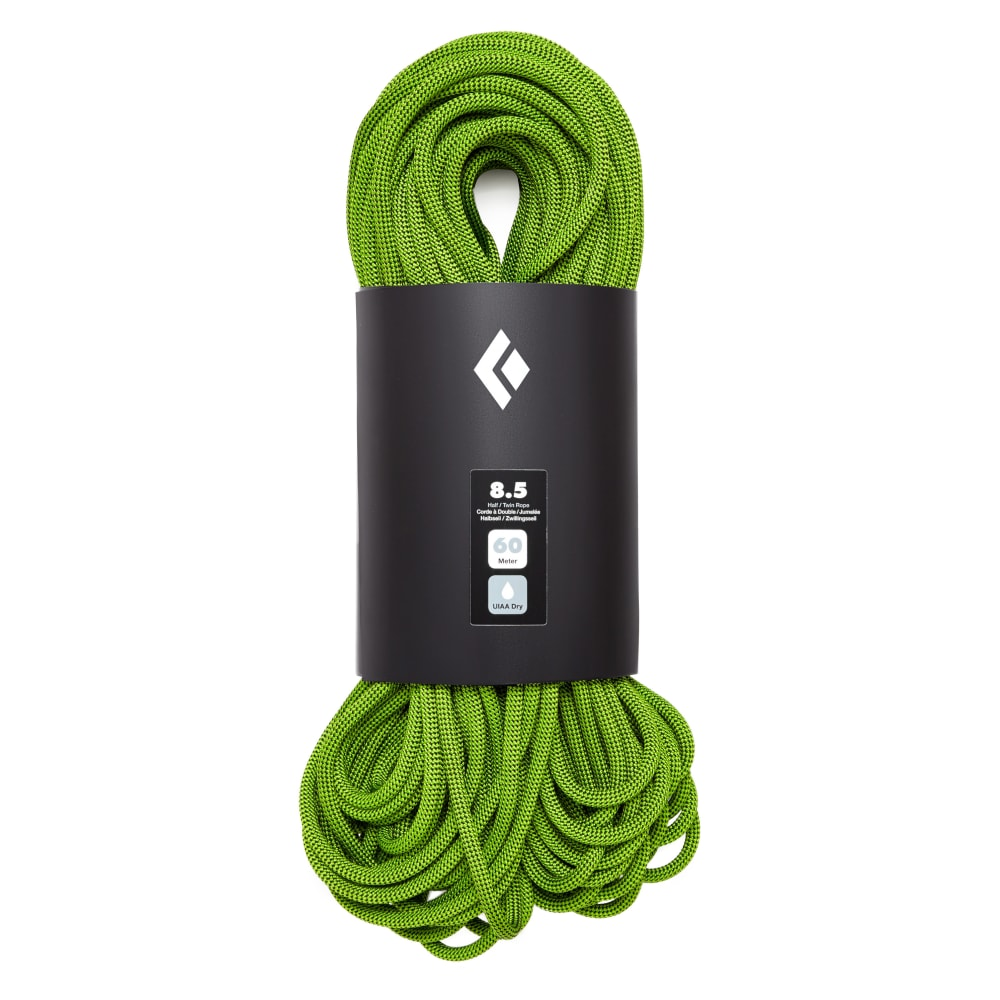 BLACK DIAMOND 8.5 Dry 60m Climbing Rope - GREEN
