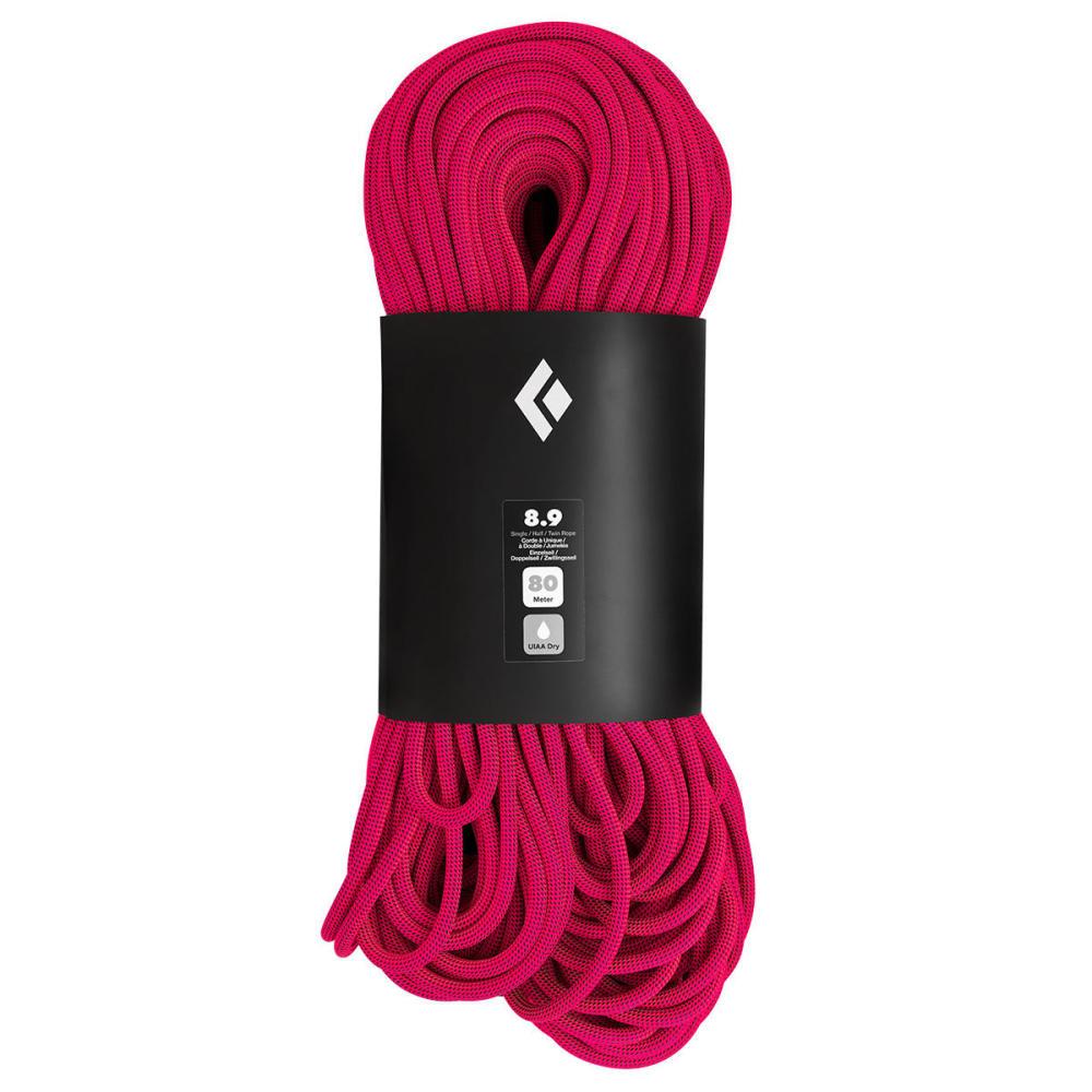 BLACK DIAMOND 8.9 Dry 80m Climbing Rope - ULTRA PINK