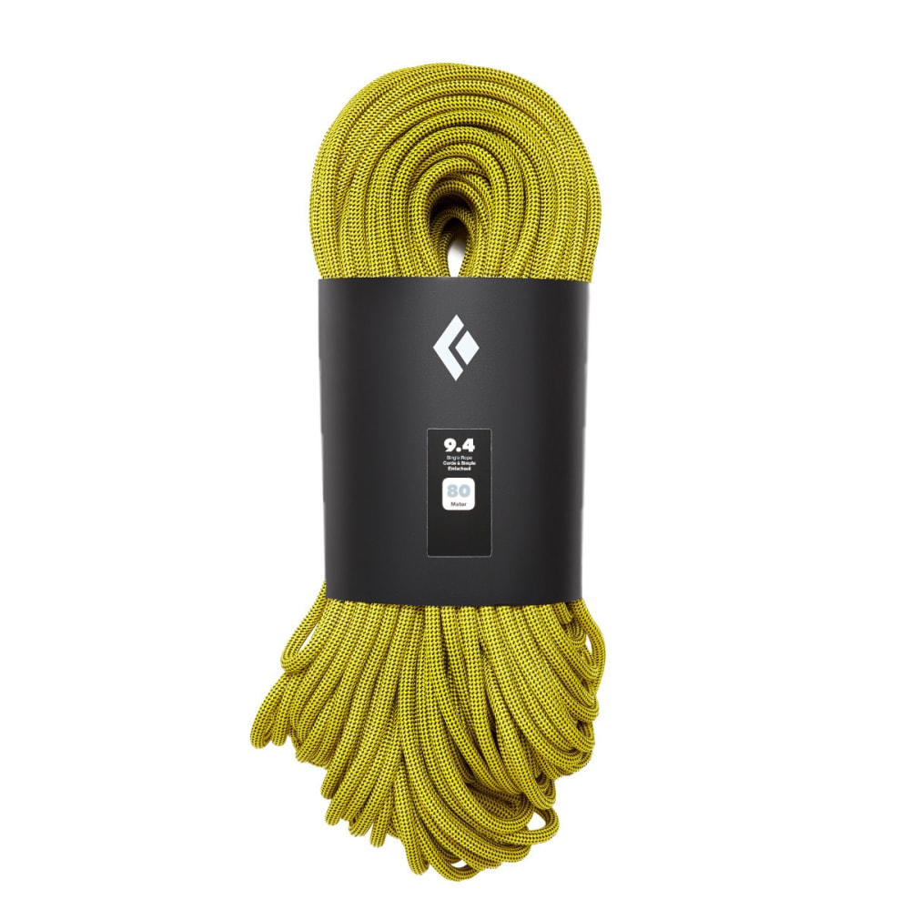 BLACK DIAMOND 9.4 80m Climbing Rope - GOLD
