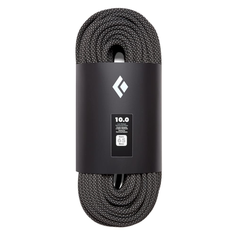 BLACK DIAMOND 10.0 Static 65m Climbing Rope - BLACK